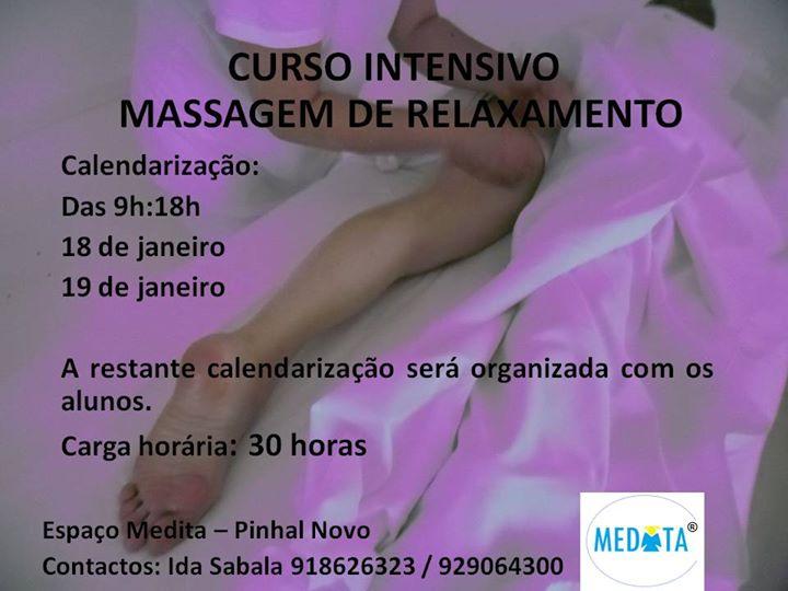 Curso Intensivo de Massagem de Relaxamento