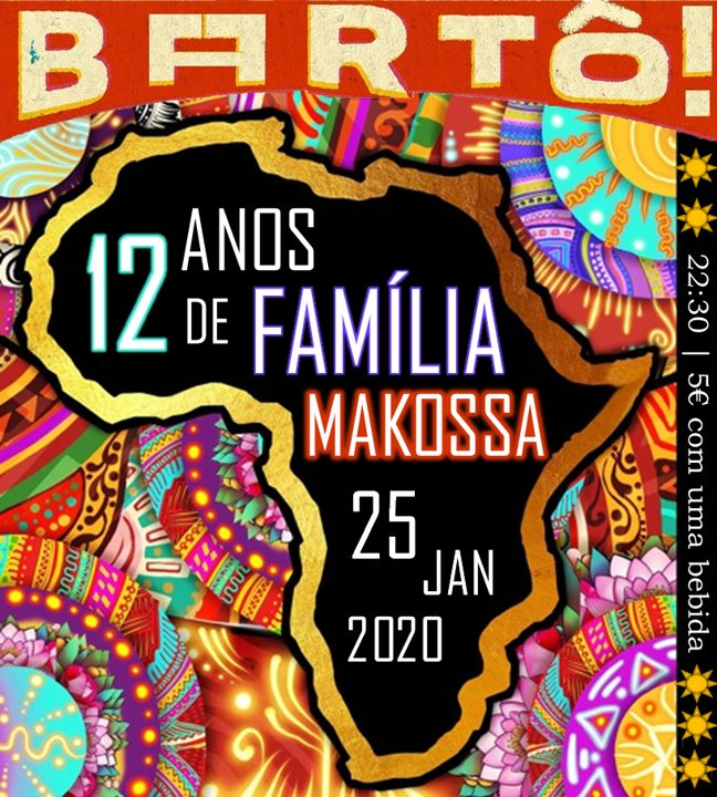 Irmãos Makossa festejam 12 anos no Bartô