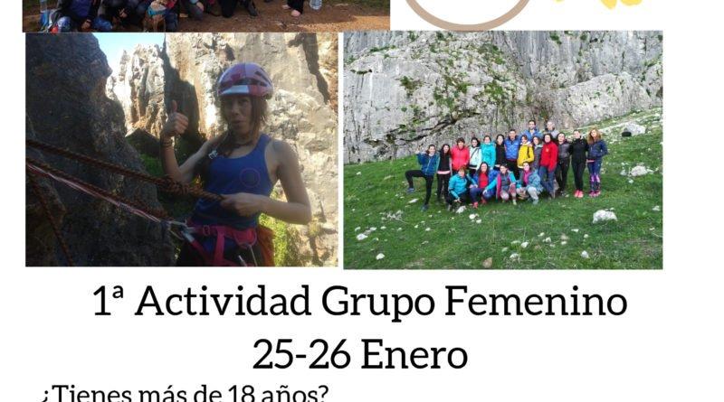 ACTIVIDAD GRUPO FEMENINO DE ESCALADA