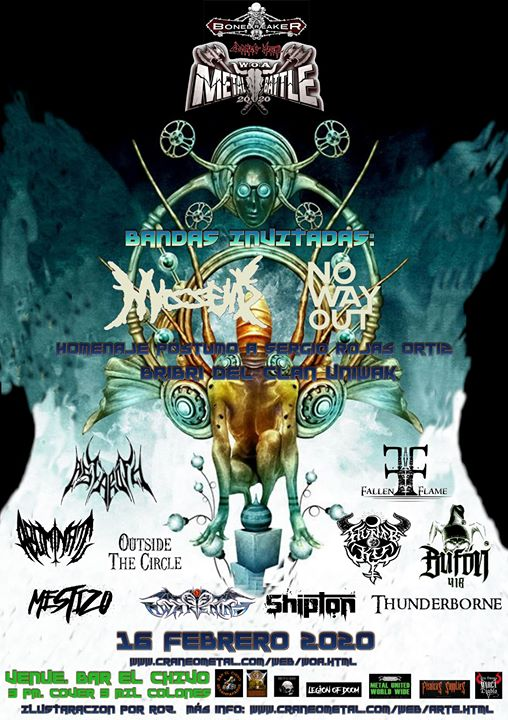 Bone Breaker 2020 - Metal Batalla al Wacken por Costa Rica