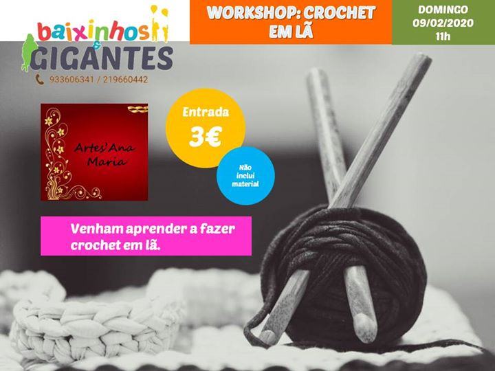Workshop: Crochet em Lã