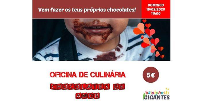 Oficina de Culinária 'Chocolates de Amor'