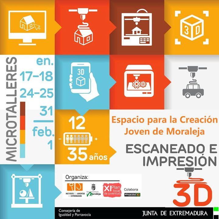 Microtalleres de impresión y escaneado 3D