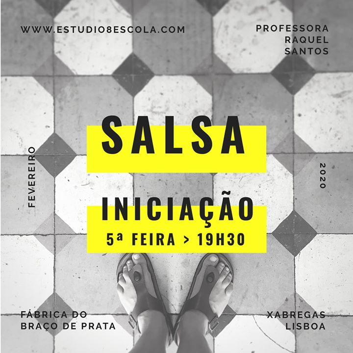 ★Estúdio 8 - Aula Experimental de Salsa na F. Braço de Prata★