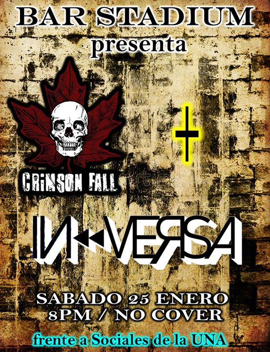 Crimson Fall & In Versa una noche de rock