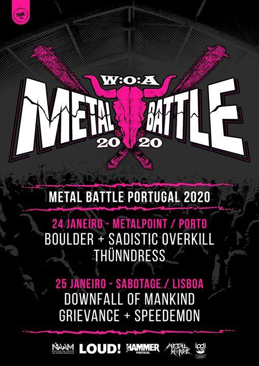 W:O:A Metal Battle Portugal 2020 / Classificativa Sul