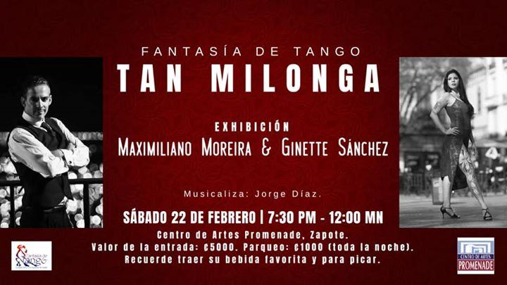 Tan Milonga | Exhibición: Ginette Sánchez & Maximiliano Moreira
