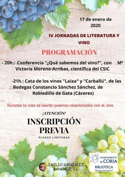 IV Jornadas de Literatura y Vino