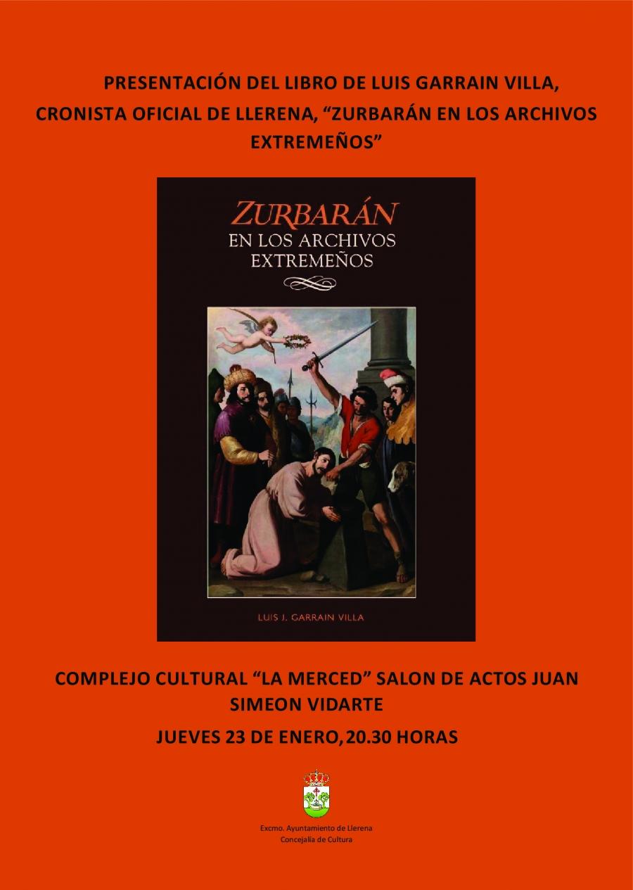 """Presentación del libro """"Zurbarán en los archivos extremeños"""""""