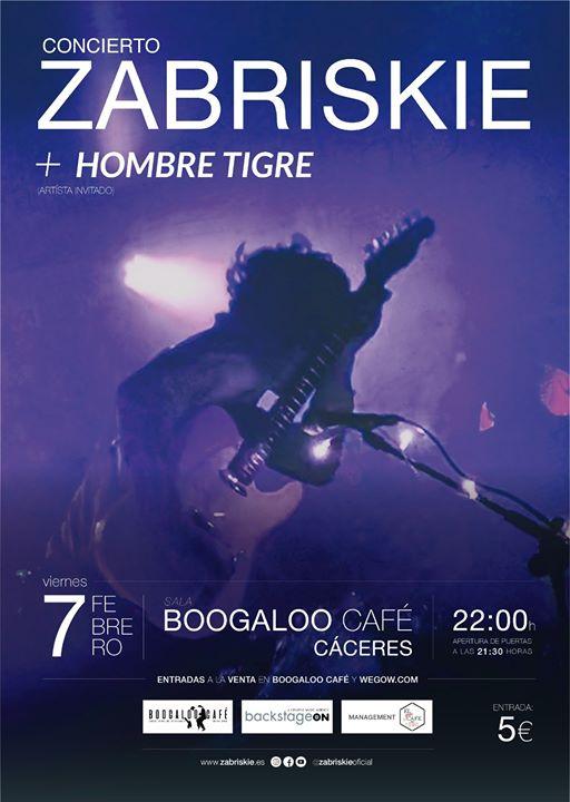 Concierto de ZABRISKIE+Hombre Tigre