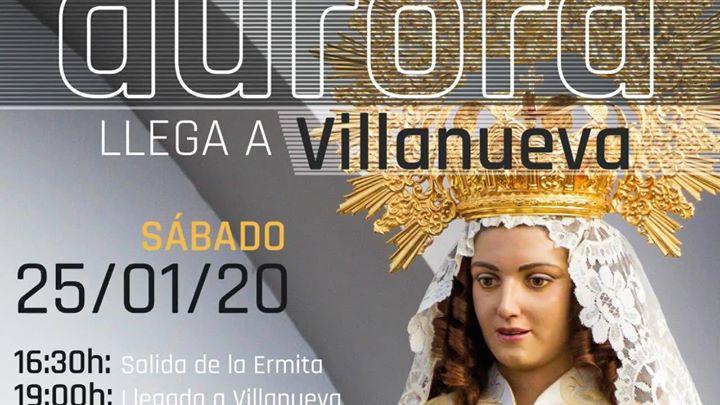 La Virgen de la Aurora llega a Villanueva de la Serena