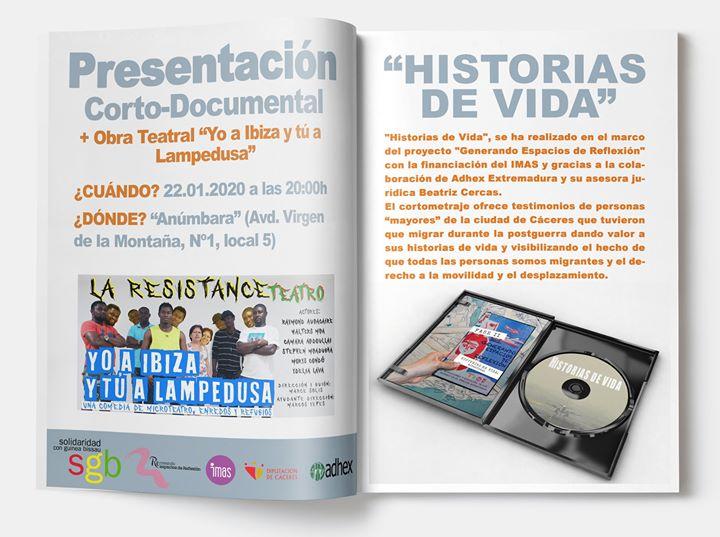 "Corto Documental ""Historias de Vida"" + Microteatro"