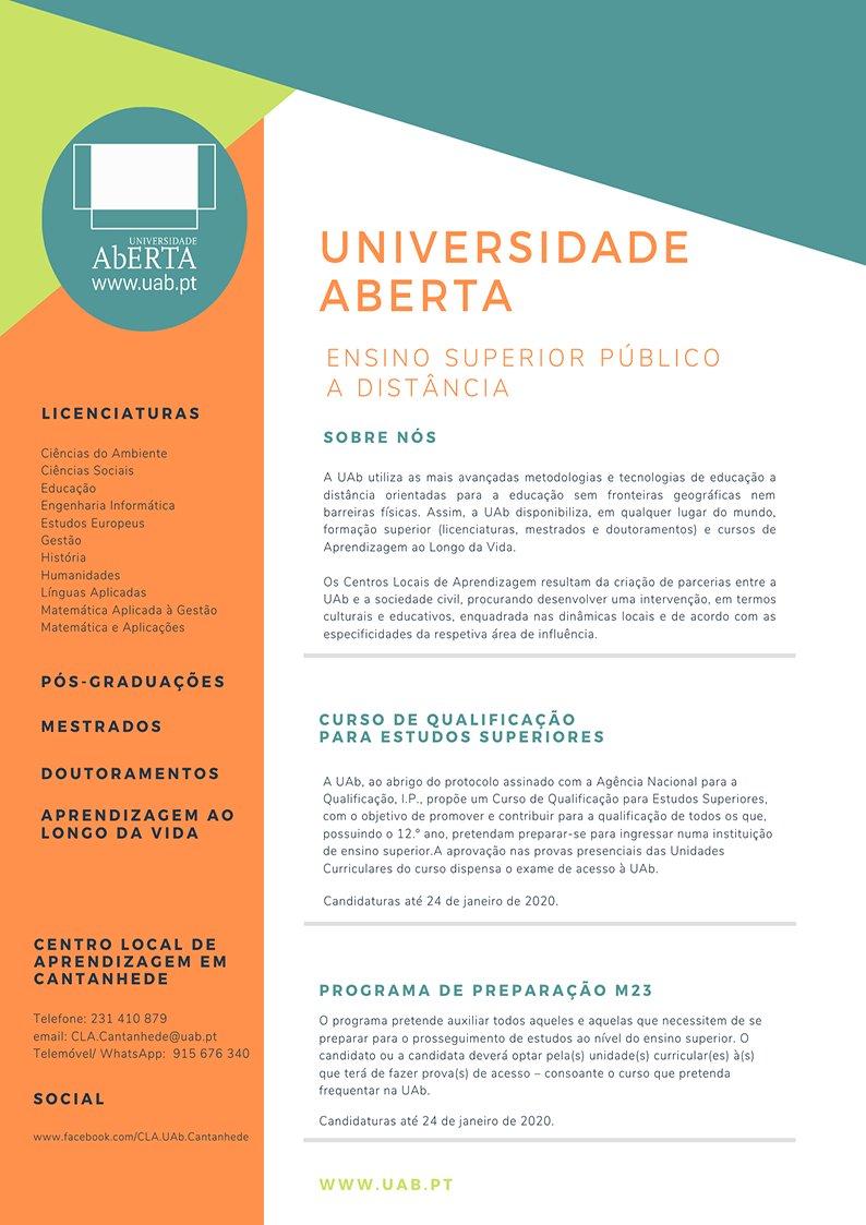 Universidade Aberta - preparação para o acesso ao Ensino Superior