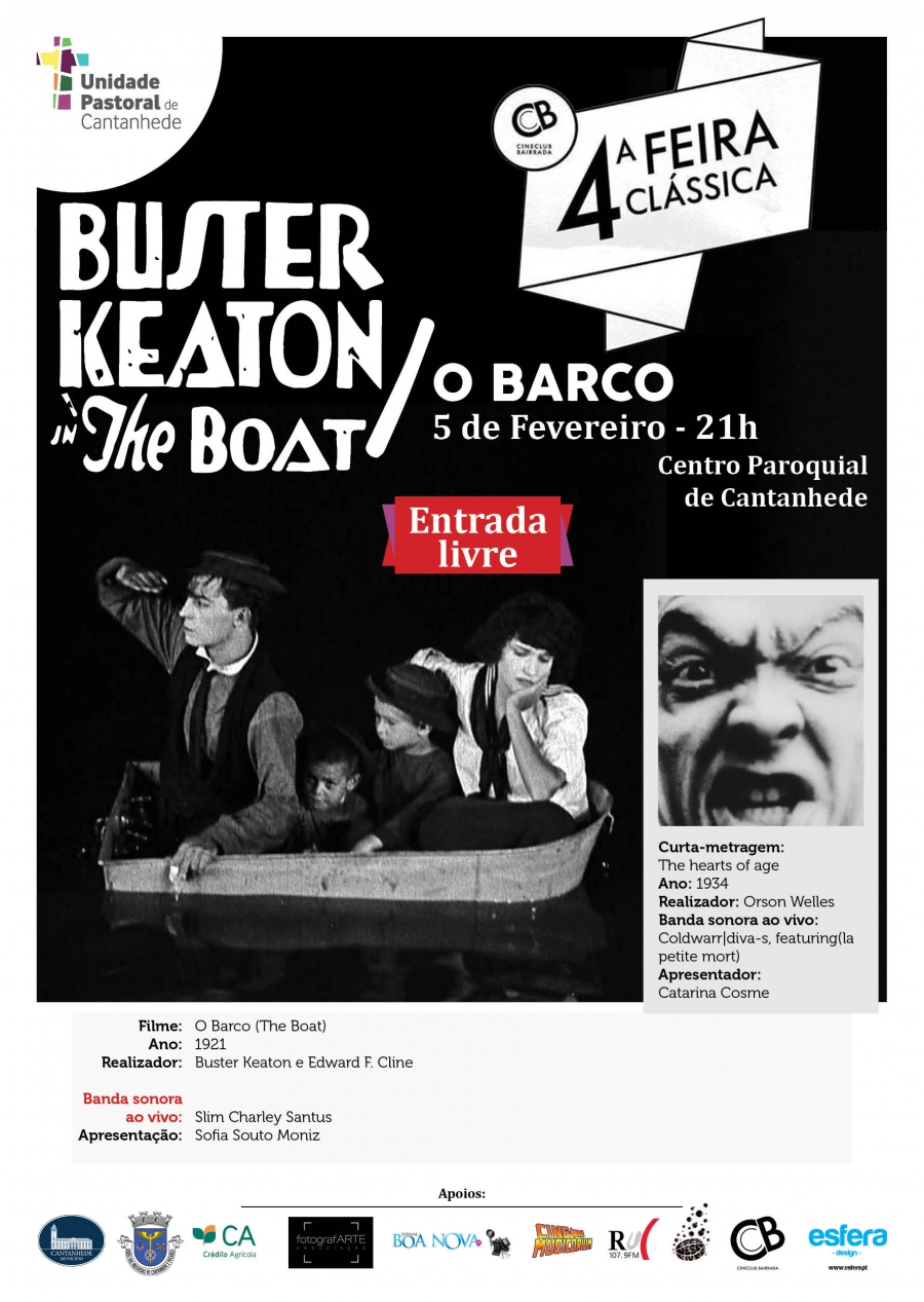 4.ª Feira Clássica: Buster Keaton - O Barco