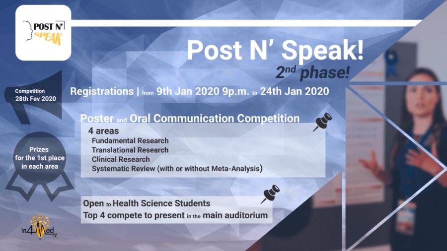 Post n' Speak – Concurso de Pósters e Comunicações Orais do IX In4Med