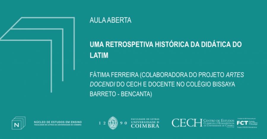 """Aula Aberta """"Uma Retrospetiva Histórica da Didática do Latim"""""""