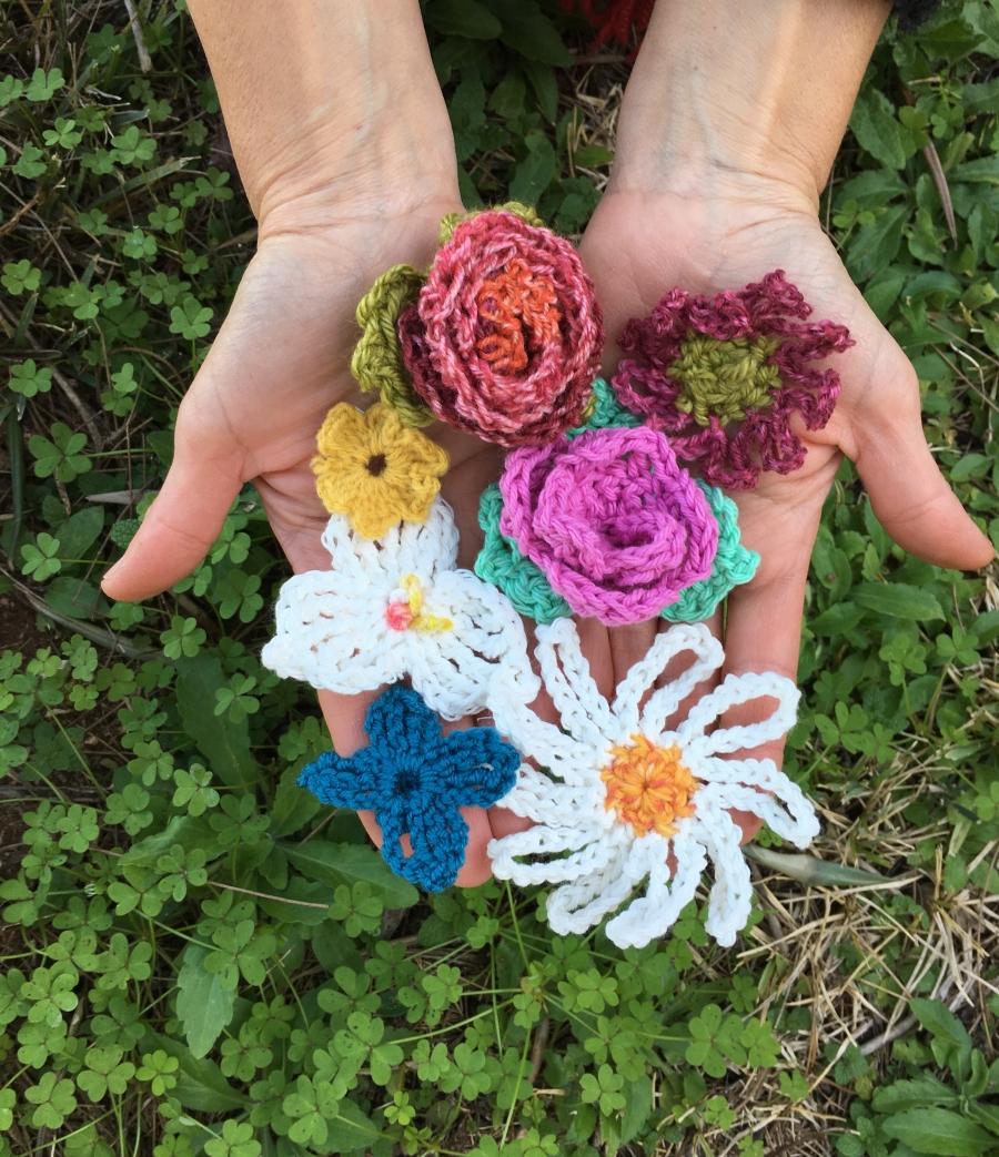Oficina «Flores em crochet»