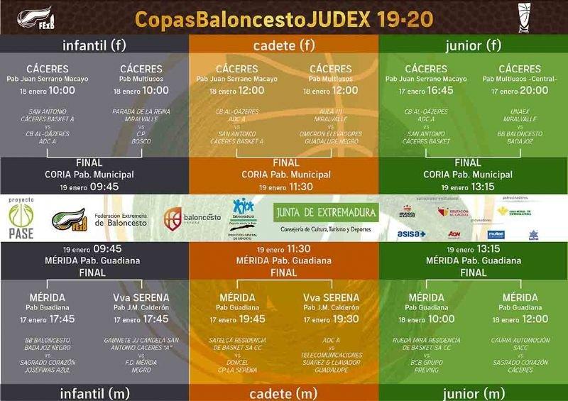 Finales de la Copa de Extremadura de Baloncesto Femenino JUDEX 2020