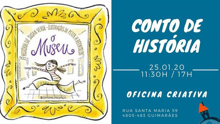"""Conto de História """"O Museu"""" com Oficina Criativa"""