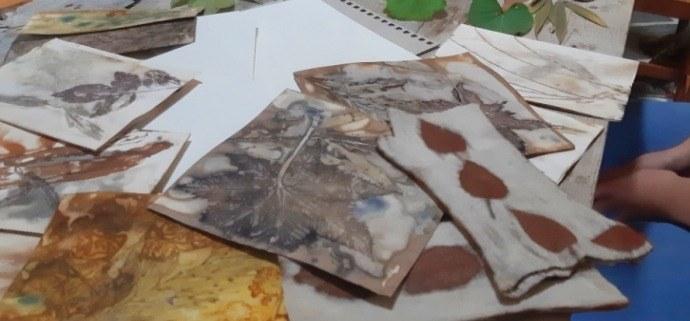 Impressão Botânica em Papel