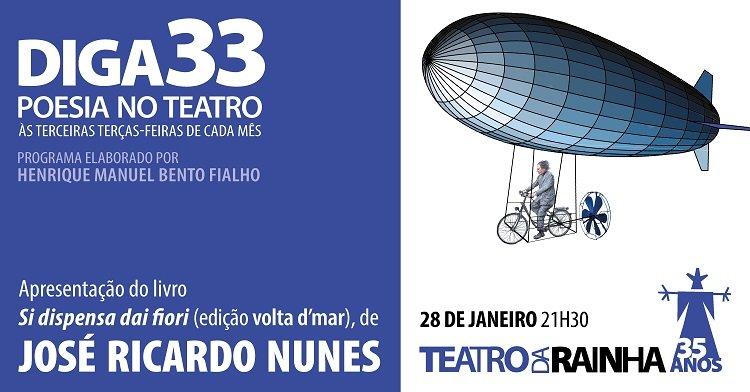 Diga 33 | Poesia no Teatro | com José Ricardo Nunes