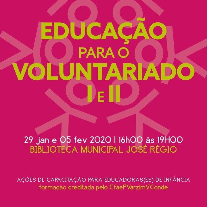 """Ações """"Educação para o Voluntariado'"""