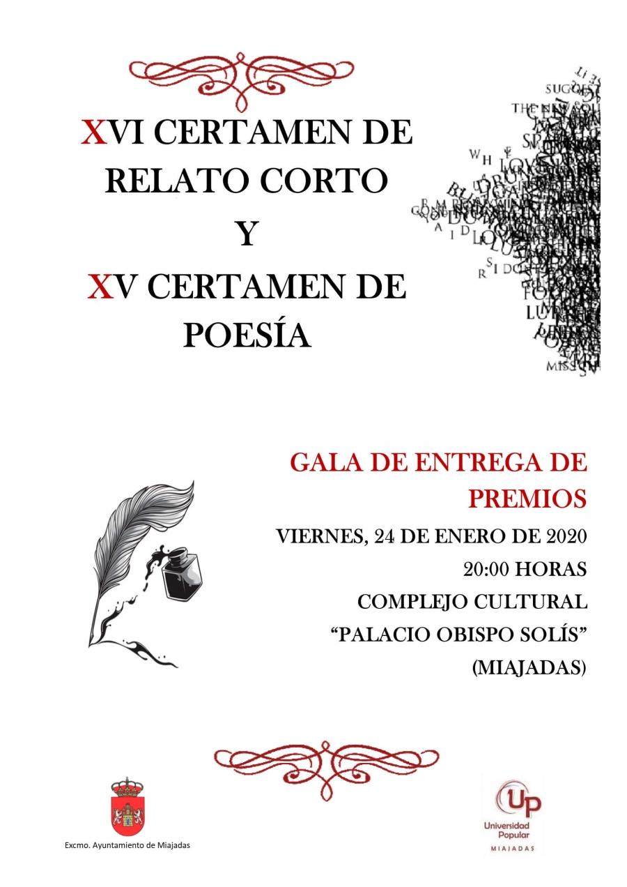 Gala XVI Certamen de Relato Corto y XV de Poesía