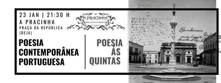 Poesia Às Quintas - Poesia Contemporânea Portuguesa