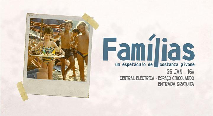 Famílias - um espectáculo de Costanza Givone