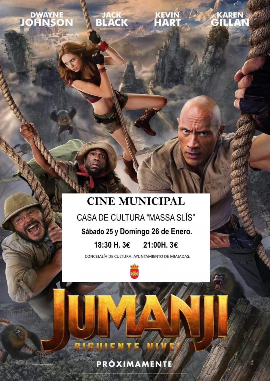 El cine municipal proyecta: Jumanji