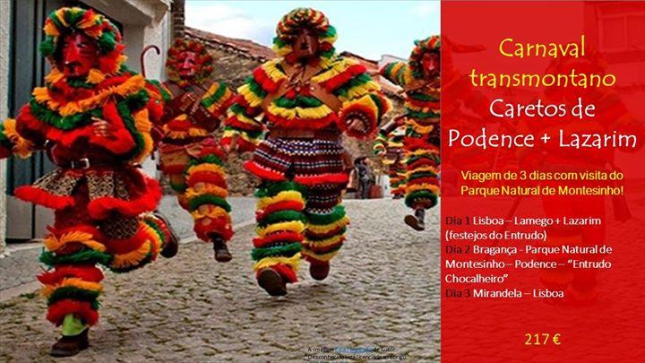 Passeio cultural - Carnaval Transmontano em Lazarim e Podence