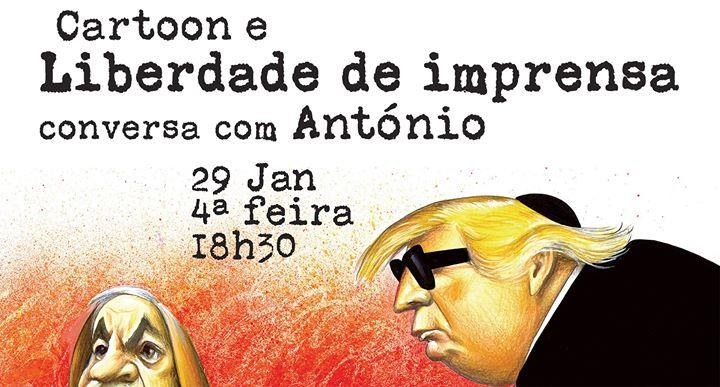 Cartoon e Liberdade de Imprensa: conversa com António