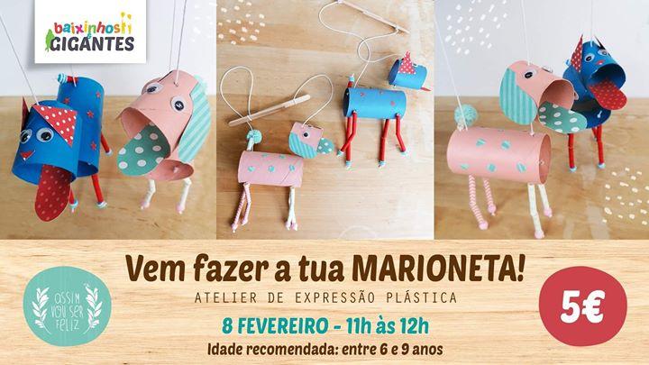 Atelier De Expressão Plástica 'Vem Fazer A Tua Marioneta'