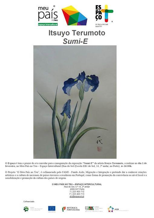 """Exposição """"Sumi-E"""" de Itsuyo Terumoto"""