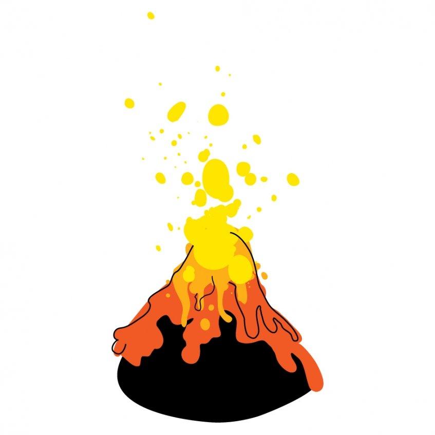 Vulcões em erupção - ESGOTADO