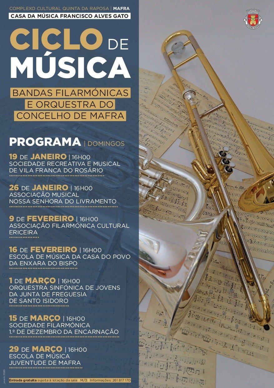 Ciclo de Música 'Bandas Filarmónicas e Orquestra do Concelho de Mafra'
