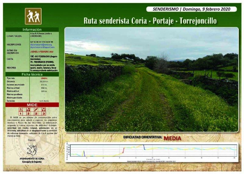 Ruta Senderista 'Coria-Portaje-Torrejoncillo'
