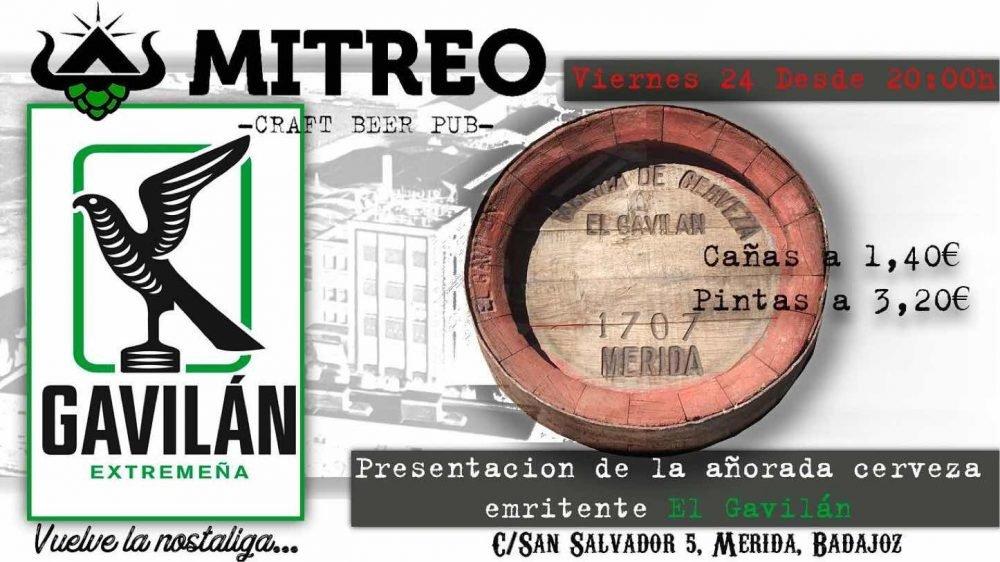 Presentación cerveza emeritense Gavilán