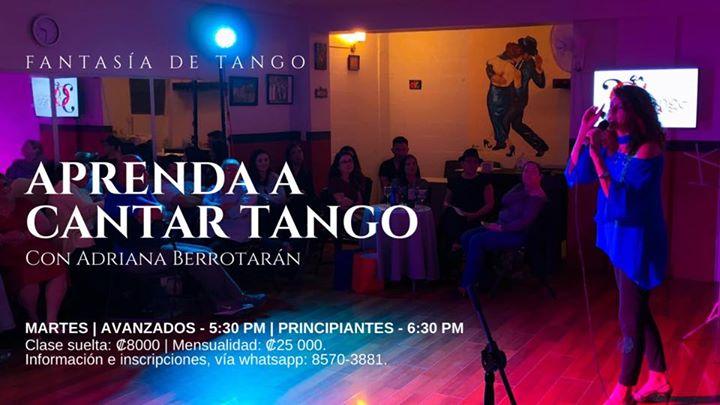 Inicio de lecciones: Aprenda a cantar tango