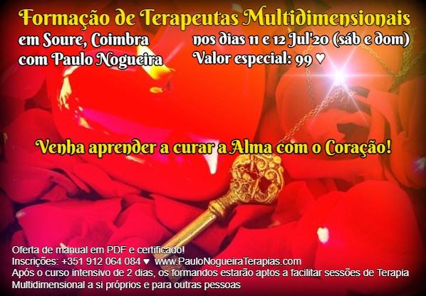 Curso de Terapia Multidimensional em Coimbra em Jul'20 - 99 eur
