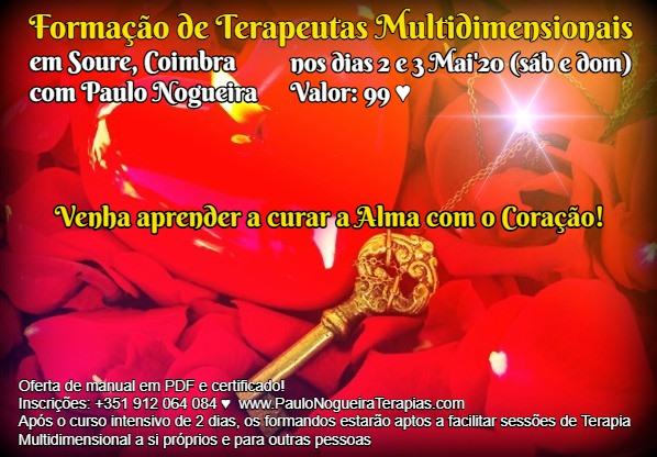 Curso de Terapia Multidimensional em Coimbra em Mai'20 - 99 eur