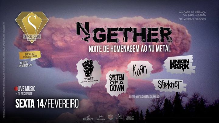 Tributo ao Nu Metal (N2GETHER) • SPACE CLUB - Fátima