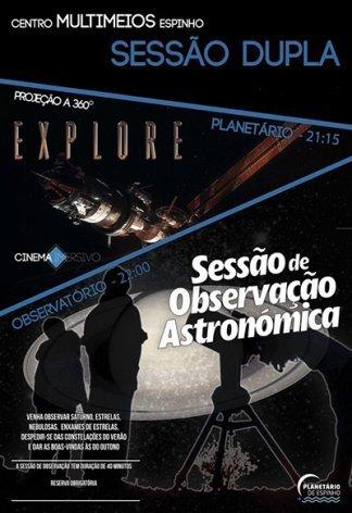 Sessão Dupla: Observação + Planetário