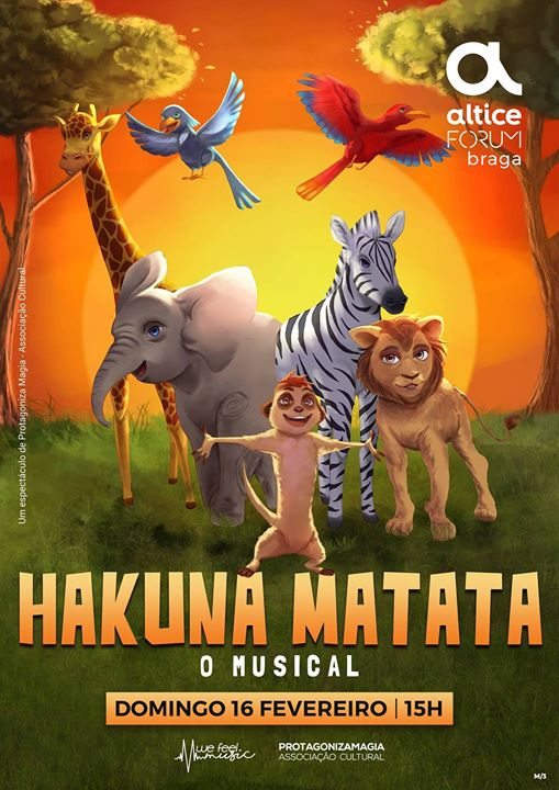 Hakuna Matata o Musical em Braga
