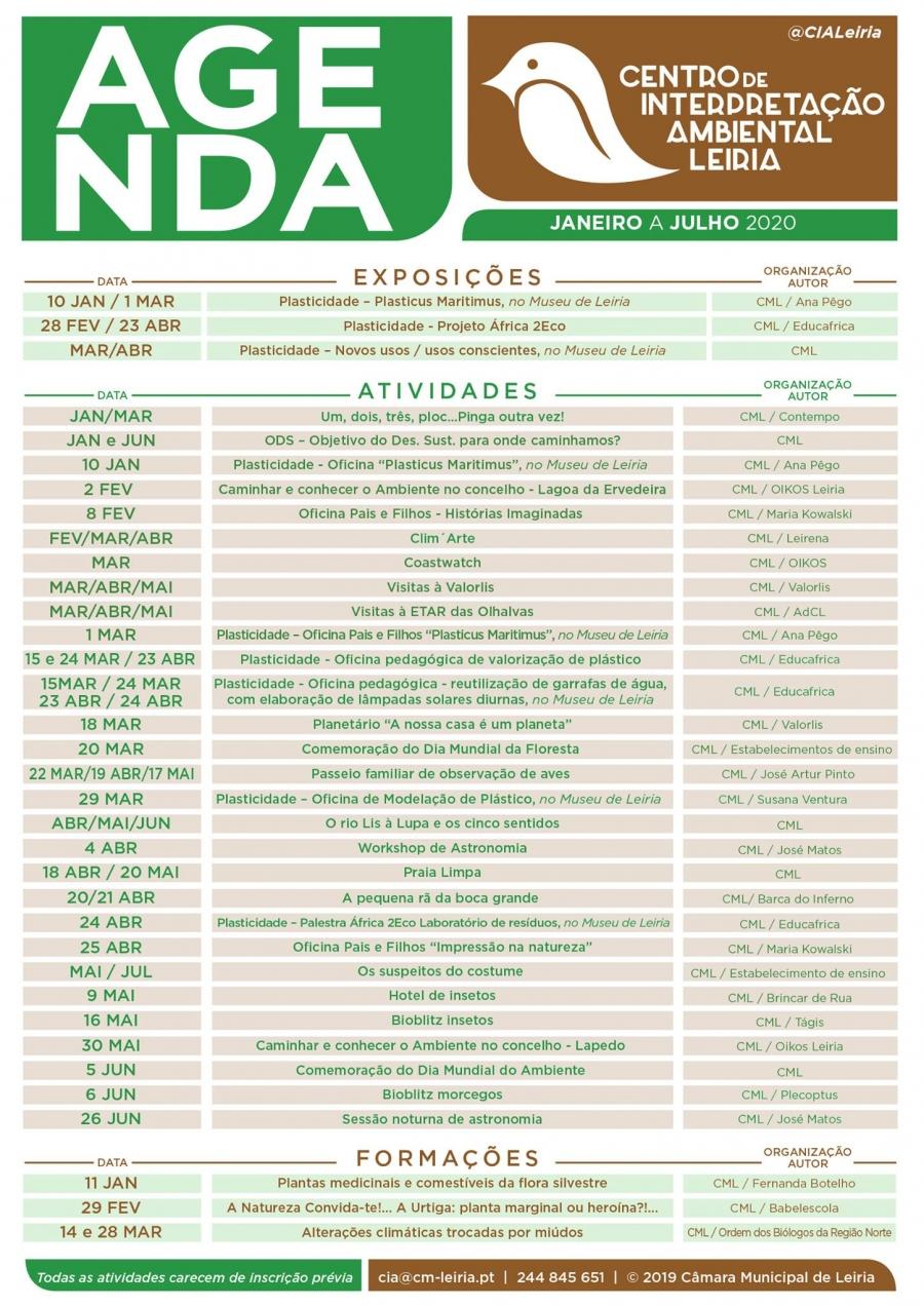 Agenda - Centro de Interpretação Ambiental de Leiria