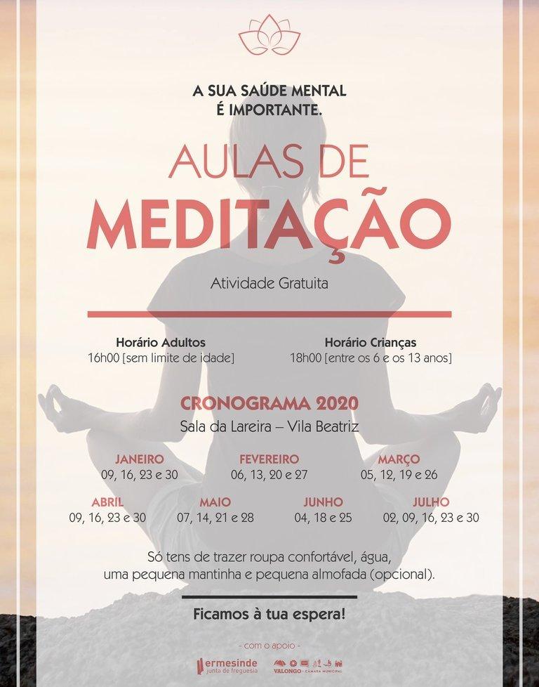 Aulas de Meditação gratuitas