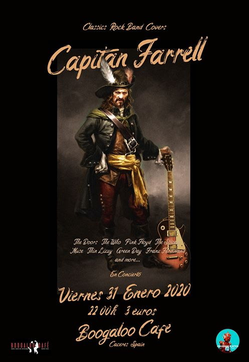 Capitan Farrell concierto en Boogaloo Cáceres