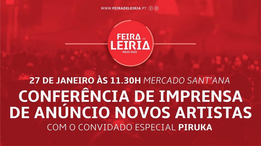 Feira de Leiria: Conferência de imprensa de anúncio novos artistas