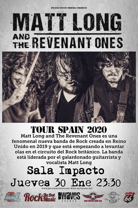 MATT LONG AND THE REVENANT ONES desde Reino Unido