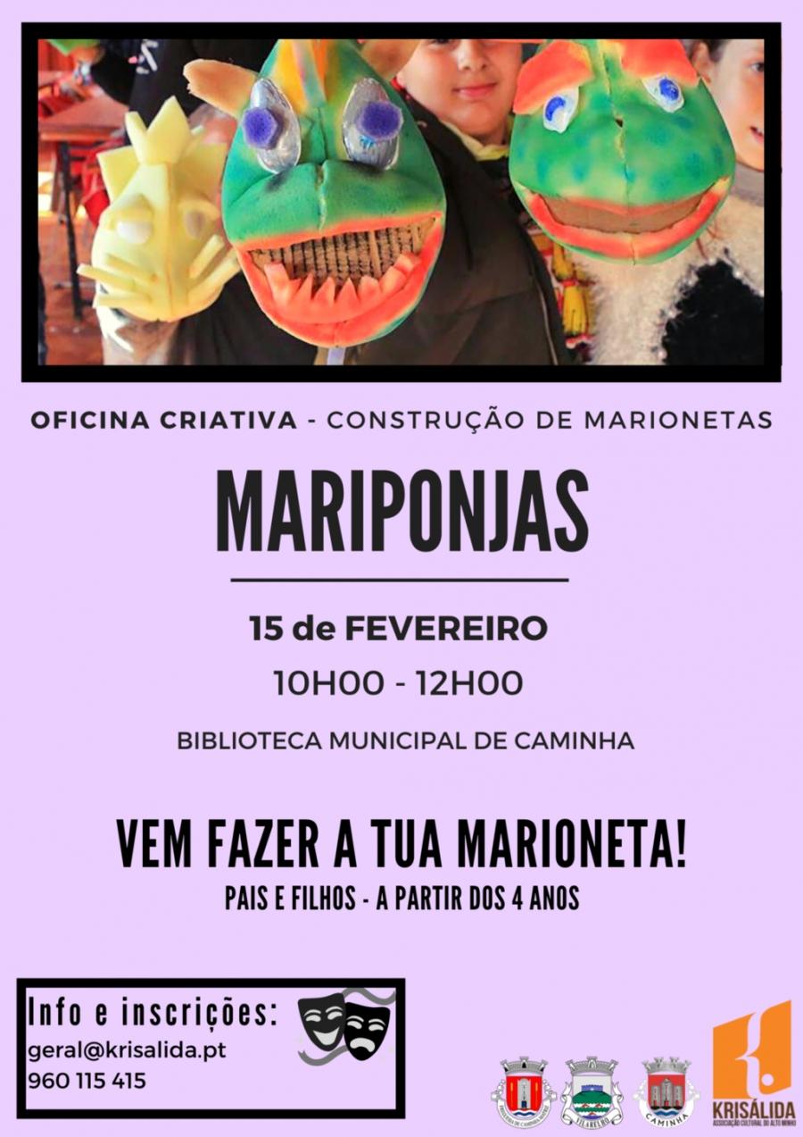 MARIPONJAS - OFICINA CRIATIVA - CONSTRUÇÃO DE MARIONETAS
